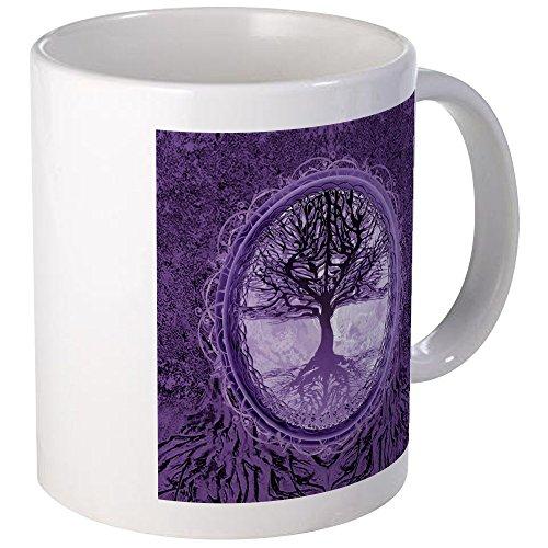 CafePress - Tree Of Life In Purple Mugs - Unique Coffee Mug Coffee Cup