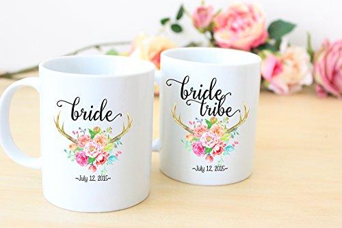 Bride and Bridesmaid Coffee Mugs- Bride Tribe