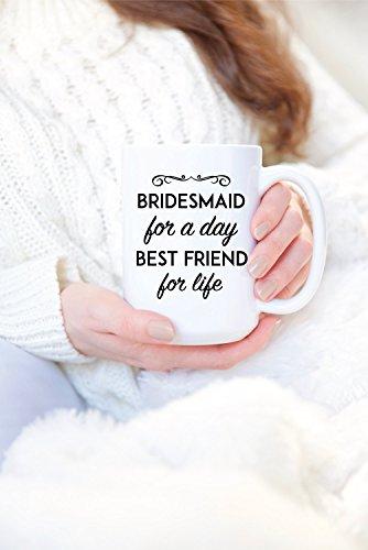 SAYOMEN - Bridesmaid Gift - Bridesmaid Coffee Mug - Bridesmaid Proposal - Bridesmaid Coffee Cup - Will You Be My Bridesmaid Gift - Bridesmaid Mug MUG 15oz