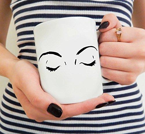 Eyelashes Mug Lash Mug Blogger Gift Beauty gift Makeup Blogger gift Coffee gift Makeup artist mug Makeup coffee mug Eyeliner addict