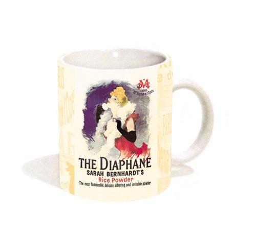 Jules Cheret La Diaphane Rice Powder Vintage Makeup Advertising Art Ceramic Gift Coffee Tea Cocoa 11 Oz Mug