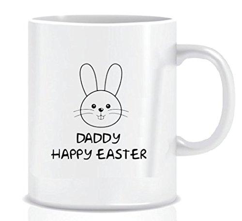 Daddy Happy Easter - Coffee Mug in Blue Ribbon Gift Box - 11 oz