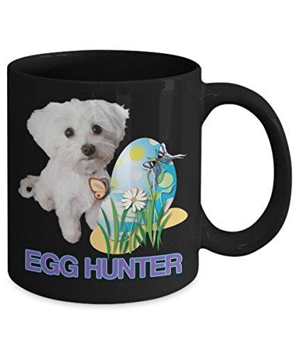 Happy Easter Pet Mug for Maltese Owners -Maltese Dog Easter Coffee Mugs - Tea Mug with Quote Egg Hunter