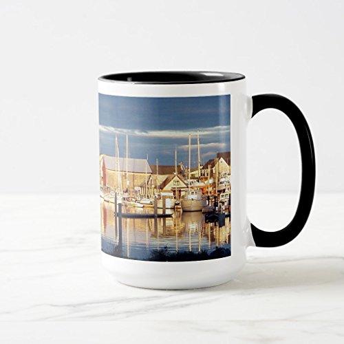 Zazzle Harbor At Belfast Maine Coffee Mug Black Combo Mug 15 oz