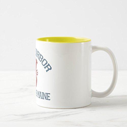 Zazzle York Harbor - Maine Coffee Mug Yellow Two-Tone Mug 11 oz