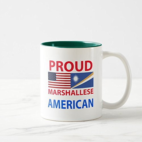 Zazzle Proud Marshallese American Coffee Mug Hunter Green Two-Tone Mug 11 oz