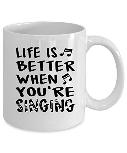 Singing Coffee Mug 15 oz Singing gift