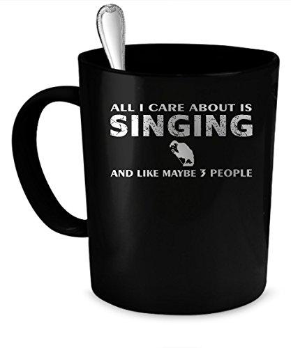 Singing Coffee Mug Singing gift 11 oz black