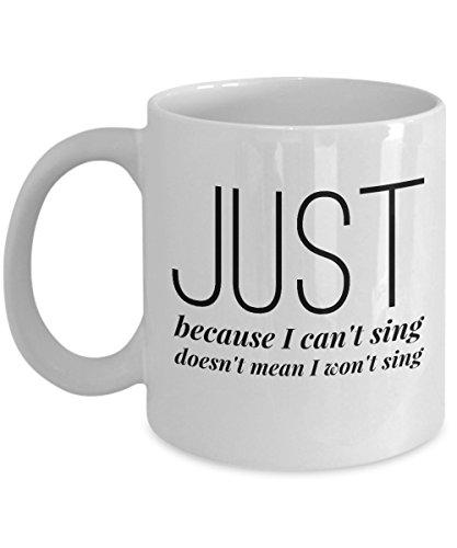 Singing coffee mug - I Sing Mug