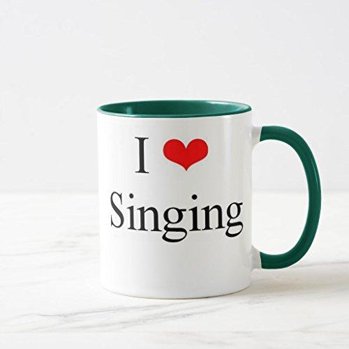 Zazzle I Love Singing Coffee Mug Hunter Green Combo Mug 11 oz