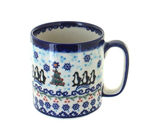 Blue Rose Polish Pottery Arctic Holidays Coffee Mug