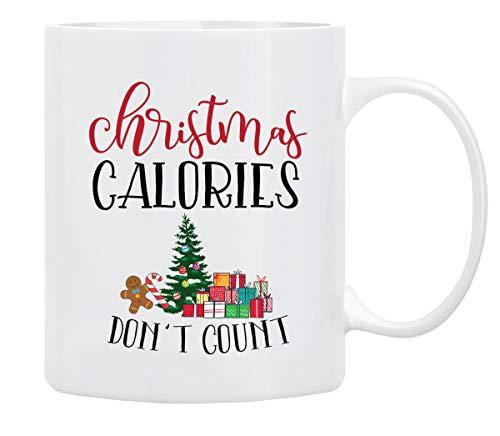 Christmas Coffee Mug Holiday Coffee Mug  Christmas Calories Dont Count Funny Christmas Mugs from Daughter Wife and Son - Christmas Movie Mug Mug in DecorativeChristmas Gift Box11 Oz