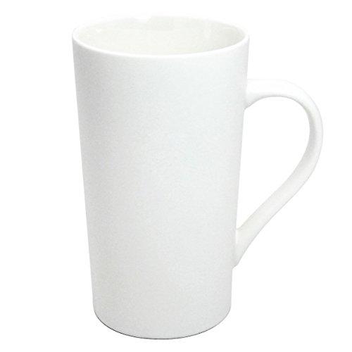 Momugs Simple Pure Large Milk Mug Tall White Ceramic Coffee Cup 20 oz