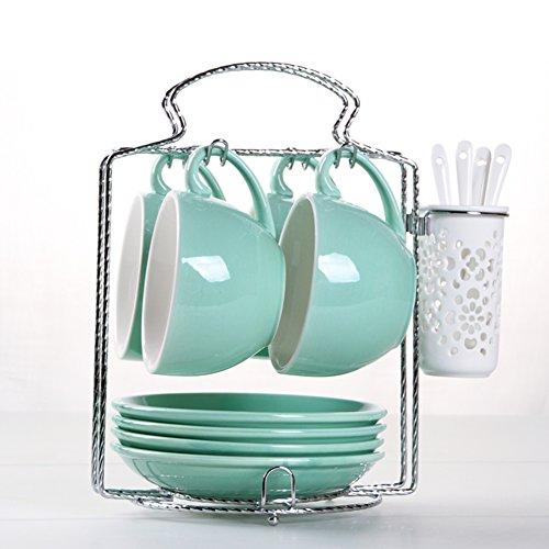 European-style etched coffee mug Bulk ceramic coffee mug set-B