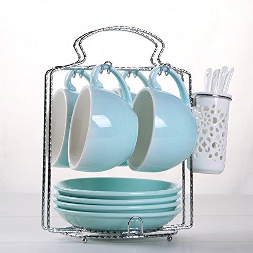 European-style etched coffee mugBulk ceramic coffee mug set-H