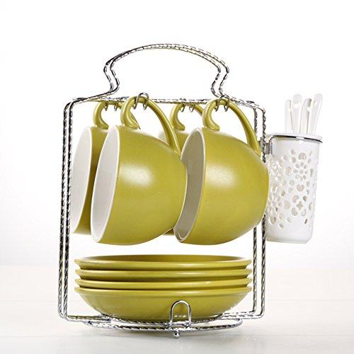 European-style etched coffee mugBulk ceramic coffee mug set-M