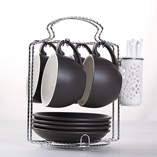 European-style etched coffee mugBulk ceramic coffee mug set-W
