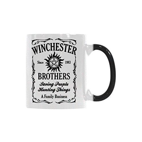 Funny Christmas Mug - Winchester Bros Coffee Mug Morphing Mugs Ceramic Material Mugs Tea Cup White 11oz
