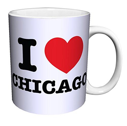 I Heart Chicago Illinois Novelty City Pride Quote Decorative Ceramic Gift Coffee Tea Cocoa 11 Oz Mug
