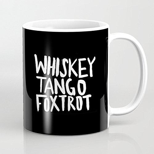 Novelty Whiskey Tango Foxtrot Coffee Mug Ceramic 11 oz Funny Mugs Christmas Mug Holiday Gifts for Dad Mom Best Friends