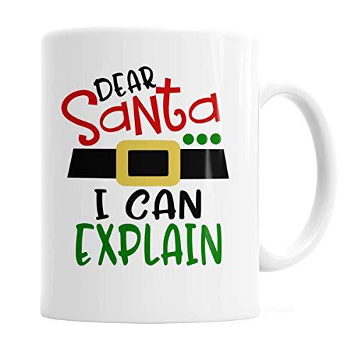 Funny Christmas Coffee Mug 11 oz Dear Santa I can Explain