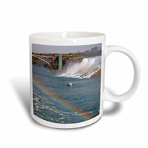 3dRose mug_74013_2Ontario Niagara Falls Maid of the Mist boat rainbow-CN08 LSE0000 - Lynn Seldon Ceramic Mug 15 oz Multicolor