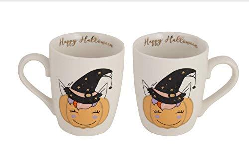 Azzure Home Halloween Mug Home Decor - Decorative Coffee Tea Hot Chocolate Mug Perfect Fall Design Pumpkin Witch Hat
