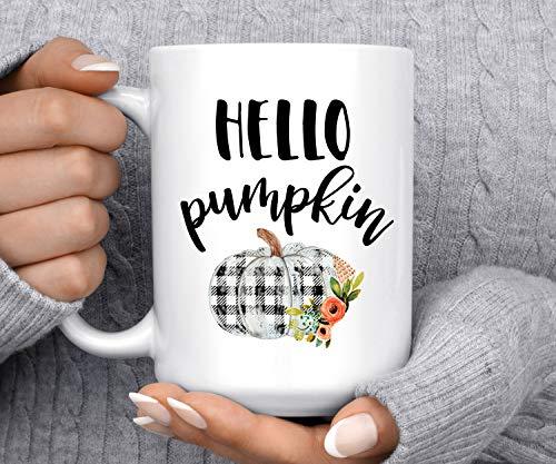 Coffee Mug Hello Pumpkin Autumn Mug Pumpkin Mug Fall Mug Good Morning Pumpkin Cute Mug Halloween Mug