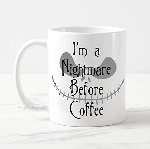 Im a nightmare before coffee mug Jack Skellington mug Halloween mug the nightmare before christmas coffee mug tim burton mug fall mug