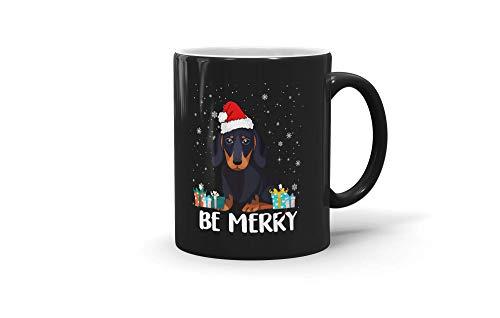 MarcoLo Merry Christmas Coffee Mug Weenie Christmas Pajama Gifts For Men Women 19117 11oz Black Mug