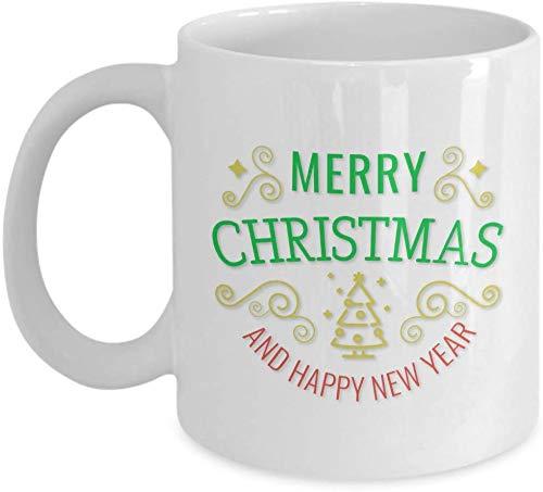 Merry Christmas Coffee Mug - Christmas and New Year Greetings