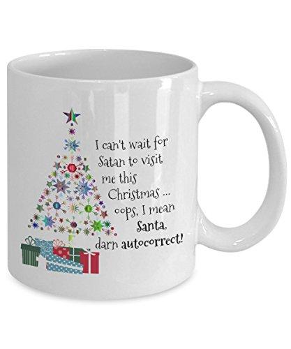 Santa Claus Christmas mugs - Santa Christmas mugs - Christmas themed mugs -Santa Autocorrect Mug