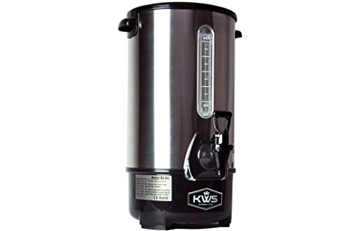 KWS WB-30 195L83Cups Commercial Heat Insulated Water Boiler and Warmer Stainless Steel Silver