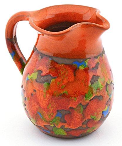 ART ESCUDELLERS Ceramic Milk JUG Handmade and Handpainted with XISPEJAT Orange Decoration 433 x 315 x 394
