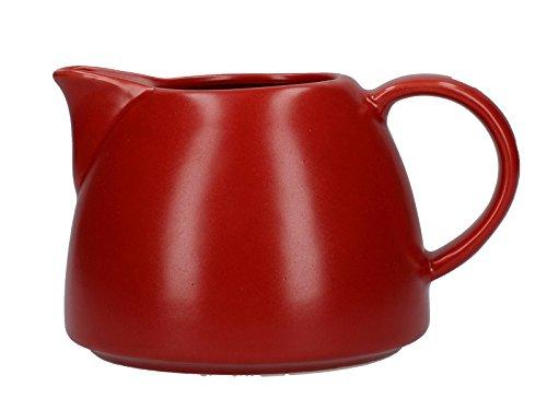 La Cafetière Barcelona Collection 380ml  134 fl oz Ceramic Milk Jug - Red