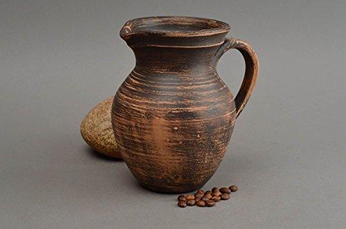 Unusual handmade ceramic milk jug clay water jug 500 ml table setting ideas