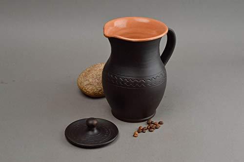Unusual homemade clay jug beautiful ceramic milk jug 15 l table setting ideas