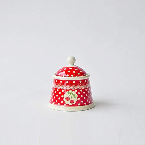 amazyn Ceramic Milk jug Milk Pot Oil Pot Set Afternoon Tea Wave CherryMilk can
