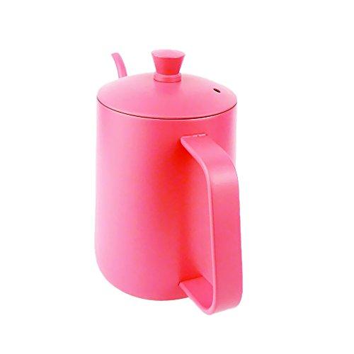 Dovewill Tea Coffee Pot Coffee Maker Moka Pot Hand Drip Pot Kitchen Tool 600ml 2 Colors - Pink 600ml