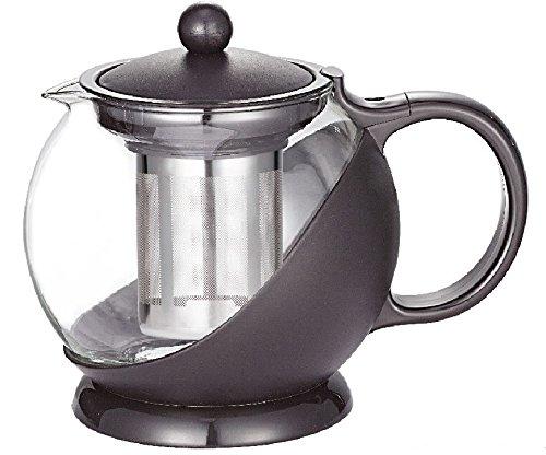Uniware Tea Coffee Pot with Filter 1250ml Black Single Piece