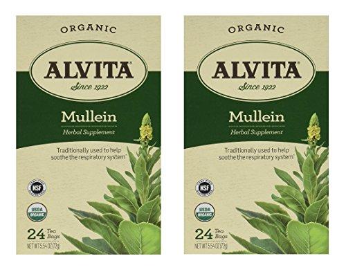 Alvita Tea Mullein 24 Tea bags Set of 2
