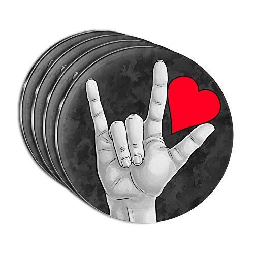I Love You Sign Language Acrylic Coaster Set of 4