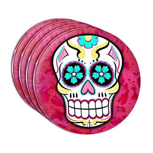 Sugar Skull Acrylic Coaster Set of 4