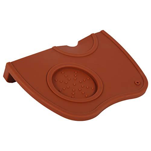 Espresso Tamper 1x Anti-slip Espresso Coffee Tamper Tamping Holder Silicone Mat Pad Coffee ColorBlack Color hard placemats Tamping Mat咖啡色