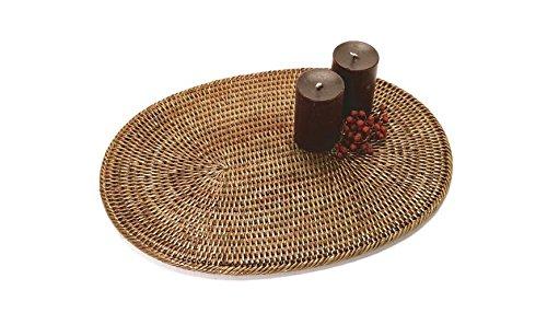 Artifacts Trading Company Rattan Medium Oval Placemat 15 L x 12 W