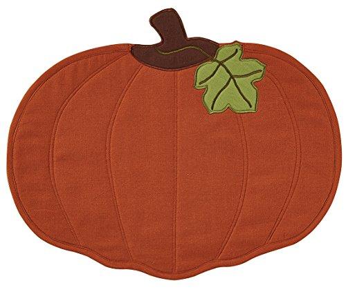 Park Designs 4 pc Pumpkin Quilted Placemat Set
