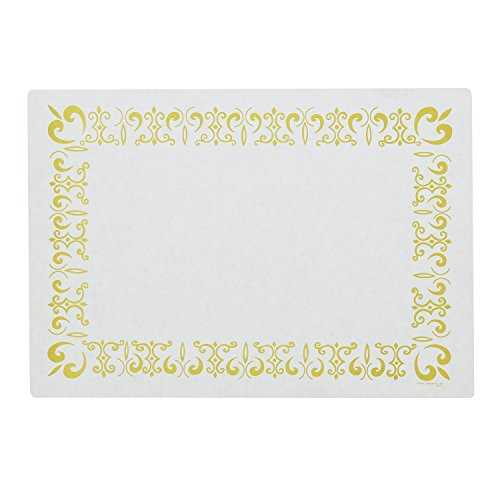 Royal Gold Border Design Disposable Placemats Package of 1000