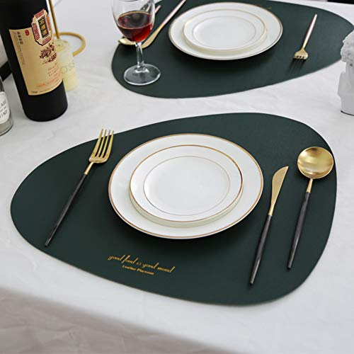 The One Faux Leather Placemats Piece of 1 Pu Table Mats Easy to Clean Heat Stain Resistant Dinging Home Decor Dinner Table Mat-c 43x35cm17x14inch