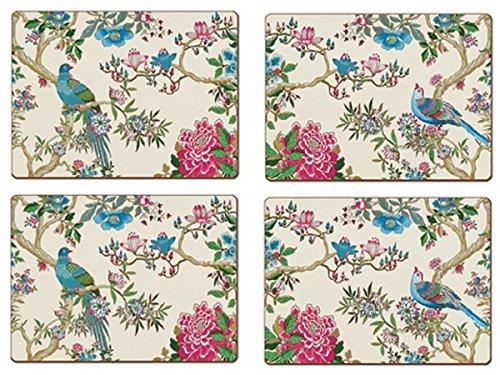 4 Cala Home Premium Hardboard Placemats Table Mats Le Jardin Chinois