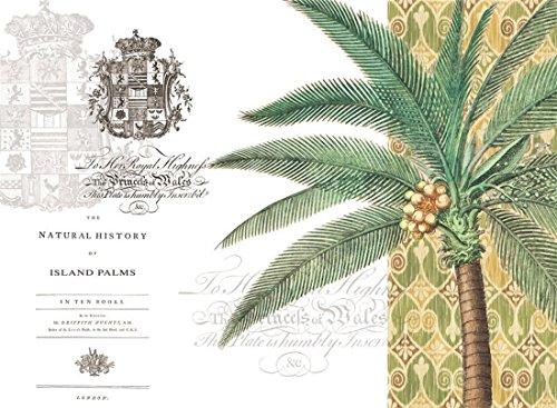 4 Cala Home Premium Hardboard Placemats Table Mats Tropical Palms